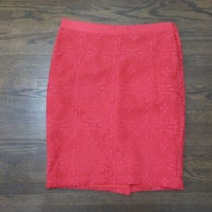 Red lace Limited skirt